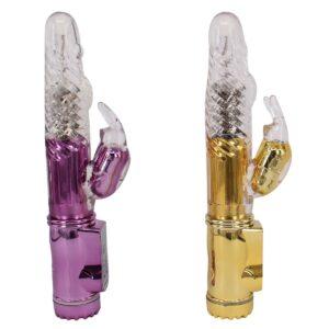 Jack Rabbit Coelho Dourado ou Roxo Metálico - Sexshop