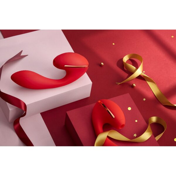 Vibrador Ponto G Com estimulador de Clitóris 10 Estimulações Diferentes - Kiss Toy