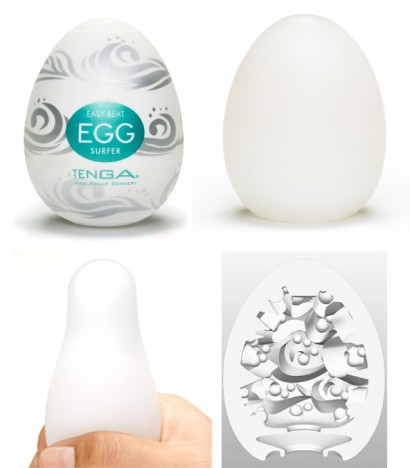 Caixa com 6 Masturbadores Tenga Egg - SURFER - Sexshop