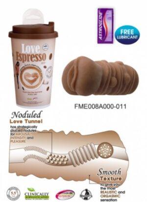 Masturbador vagina na embalagem copo de bebida - FANTASY CAFE LOVE ESPRESSO - NANMA - Sexshop-0
