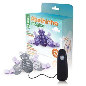 Mini Abelha mágica transparente - 12 variações de velocidade - Sexshop