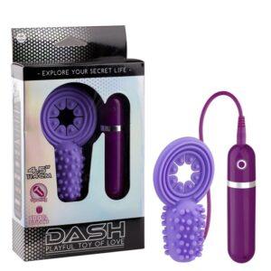 Anel peniano com estimulador e cápsula vibratória 10 velocidades - DASH PLAYFUL TOY OF LOVE - NANMA