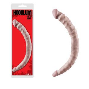 Pênis Ponta Dupla - Dong Hoodlum Flesh - Prótese dupla penetração com veias realísticas NANMA - Sexshop