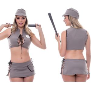 Kit Fantasia Policial A Saia Sensual Love - Sexshop