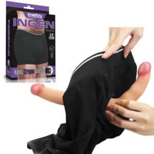 Boxer Unissex em Algodão para Próteses - INGEN HANDY STRAPON SHORTS - Sexshop