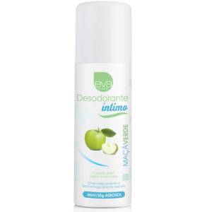 Desodorante Íntimo 66ml - Maçã Verde - Eva Cosméticos - Sex shop
