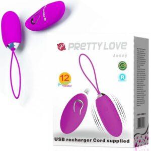 Cápsula Vibratória com Controle Remoto Recarregável USB - Pretty Love Jenny - Sexshop