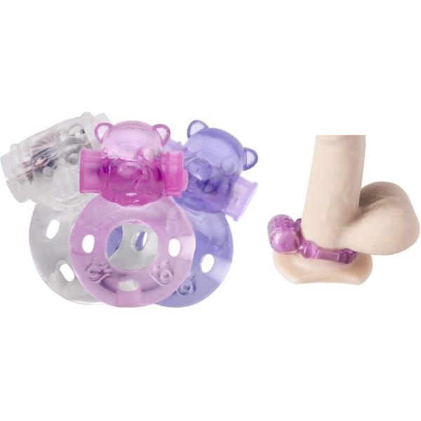 Anel Peniano com Estimulador Formato Urso e Cápsula Vibratória - Sexshop