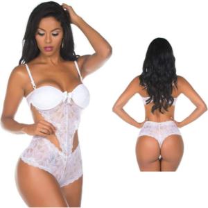 Body Branco Caleçon Sensual Pimenta Sexy - Lingerie Sexy