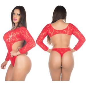 Body Sensual Escândalo Vermelho Pimenta Sexy - Lingerie Sexy