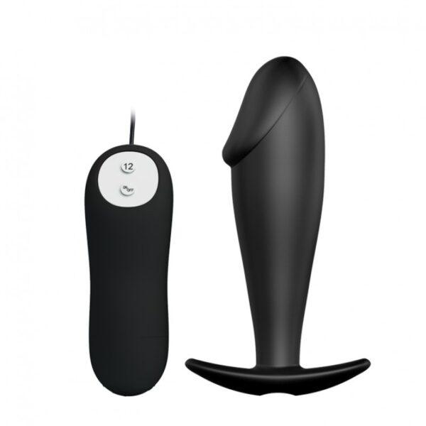 Plug Anal com Ponta Formato de Glande e 12 Modos de Vibração - PRETTY LOVE SPECIAL ANAL STIMULATION - Sexshop