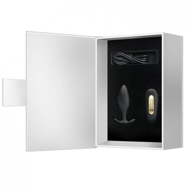 Plug Anal recarregável com controle wireless 12 vibrações ultra potente - Pretty Love