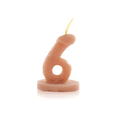 Vela Nº6 para brincadeiras no formato de Pênis - Sexshop