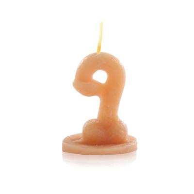 Vela Nº para brincadeiras no formato de Pênis - Sexshop