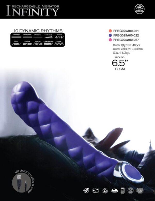 Vibrador recarregável com 10 ritmos - INFINITY RECHARGEABLE VIBRATOR - NANMA - Sexy shop