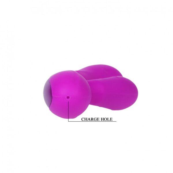 Vibrador Recarregável com Estimulador Clitoriano - PRETTY LOVE HARRY - Sex shop