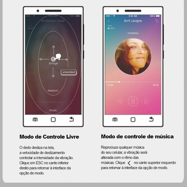 Vibrador controle Smartphone, bluetooth conectar, App gratuito ABNER - Sexshop