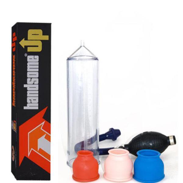 Bomba Peniana, com 3 Anéis e Manual - HANDSOME - Sex shop