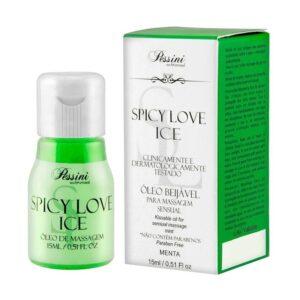 Gel Comestível Spicy Love Ice MENTA 15ml Pessini - Sex shop
