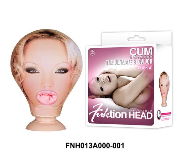Fuktion Head Inflatable - Cabeça de boneca inflável e penetrável - Sex shop