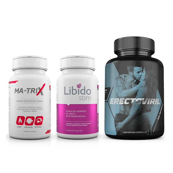 Kit com Erectoviril + LibidoStin + Ma-Trix - Sexshop