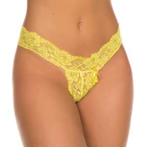 Calcinha Sexy, Fio Dental Sofia Pimenta Sexy Amarela