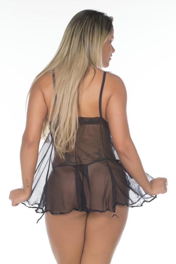 Camisola Sensual Daí Pimenta Sexy Preta - Camisola Sexy