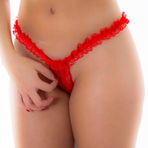 Calcinha Fio Dental Zíper Vermelha - Pimenta Sexy