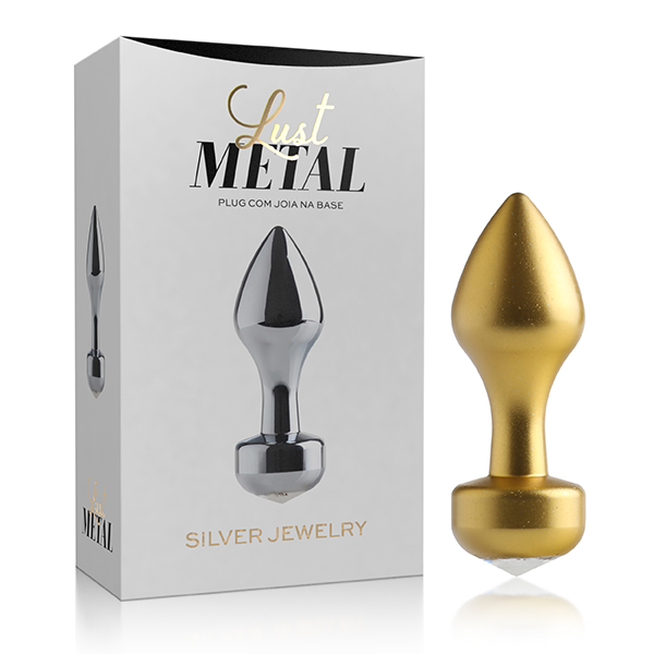 Plug Anal Diamante Lust Metal - Plug Gold Jewelry - Sexshop