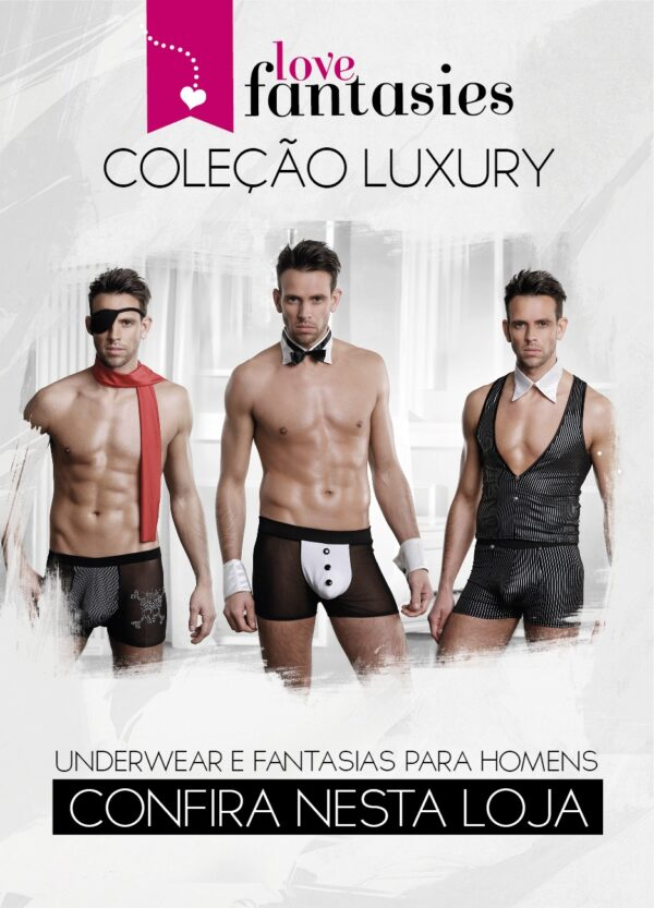 Fantasia Pirata - Cueca Boxer + Tapa Olho + Cachecol Sex shop