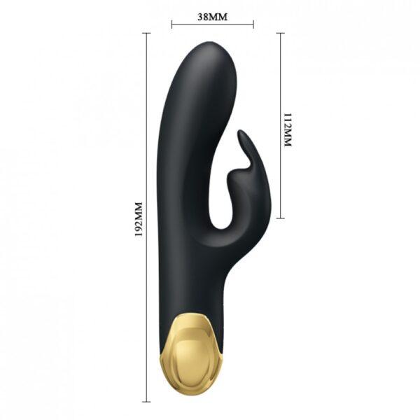 Vibrador Recarregável Luxuoso Banhado em Ouro 24k com 7 Modos de Vibração - PRETTY LOVE DOUBLE PLEASURE - Sexy shop