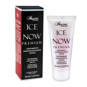 Ice NOW! Premium Gel Gelado Comestível Cereja Turquesa 35ml Pessini - Sex shop