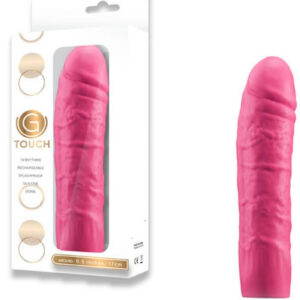 "Pênis Rosa Realístico G-Touch - 6.5"" 10 Rhythms Rechargeable Silicone Vibrator - Sex shop"