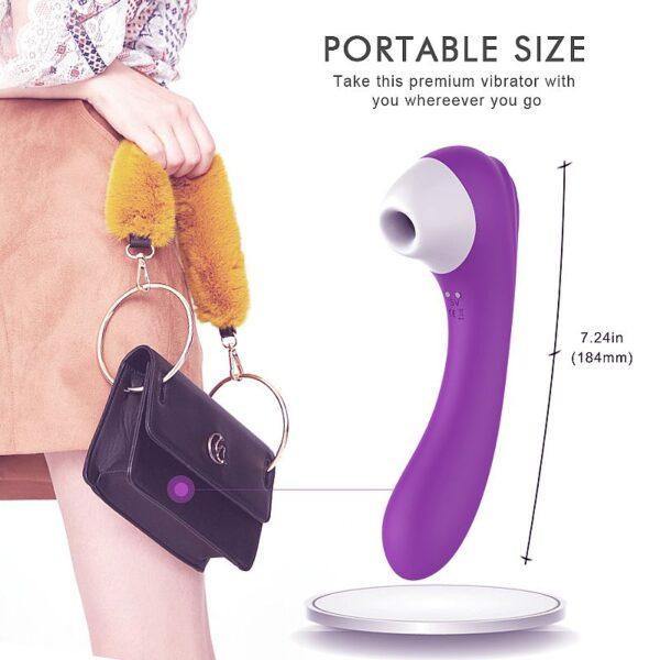 Estimulador de Ponto G e Clitóris com Sucção Recarregável - Screaming - S-Hande - Sexshop