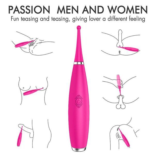 Vibrador ponta fina Massageador Feminino Recarregável - Sparkle - S-Hande - Sexy shop