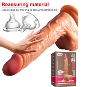 Pênis com escroto, Sucção, Vai e Vem e Autoaquecimento - Completo e Recarregável