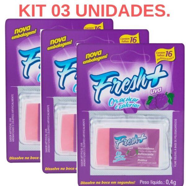 Kit 03 Lâmina Fresh Mais de Uva para sexo oral - Sexshop
