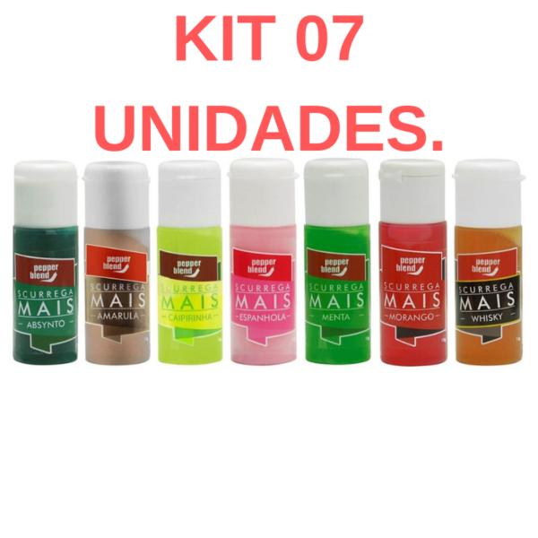 Kit 07 Gel comestível Scurrega Mais - 15g Pepper Blend - Sex shop