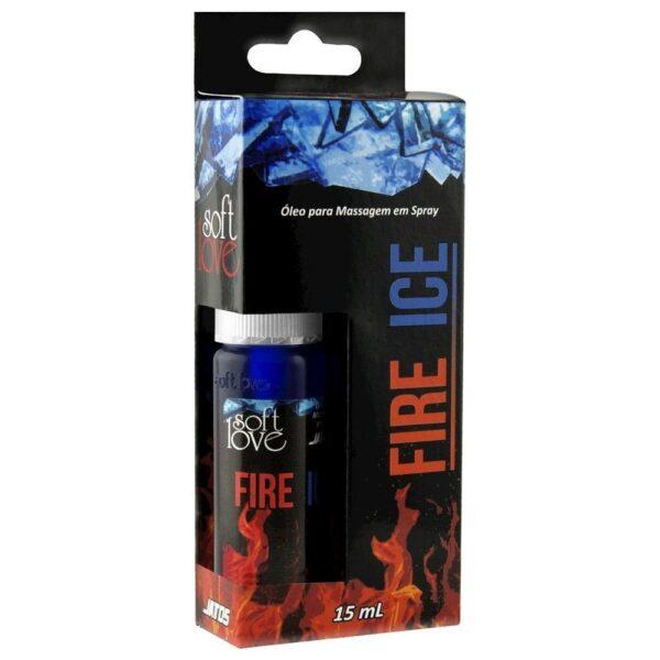 Kit 03 Spray excitante Massagem esquenta e esfria 15ml Soft Love - Sexshop