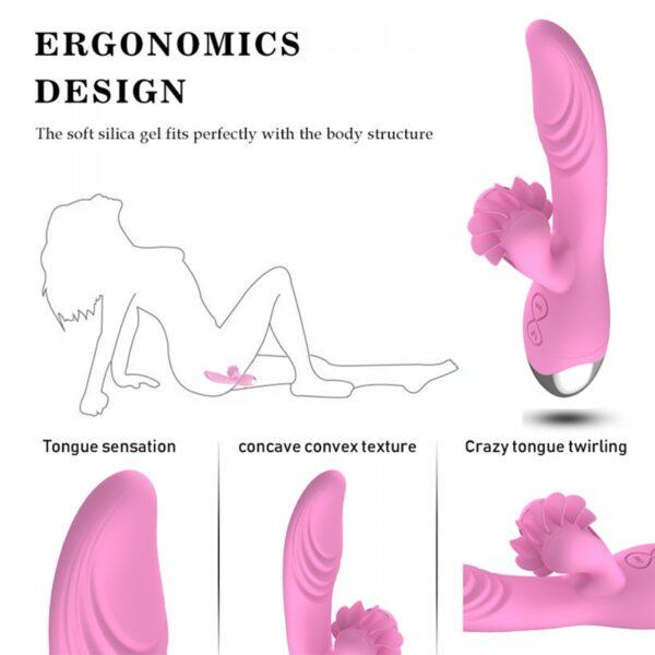 Vibrador recarregável com estimulador clitoriano simulador de sexo oral - DIBE - Sexshop