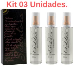 Kit 03 Sedutora Pheromones Feminino 30ml Garji - Sex shop