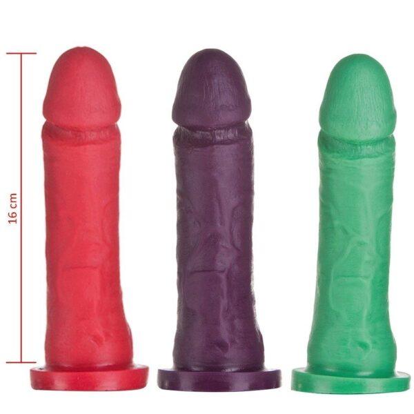 Pênis Maciço Aromatizado Maça Verde 16x4cm Hot Flowers - Sex shop