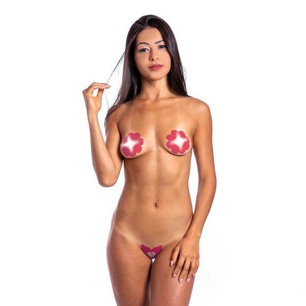 Tapa Sexo Flor Morango e Champanhe Karamela Comestível Hot Flowers - Sex shop