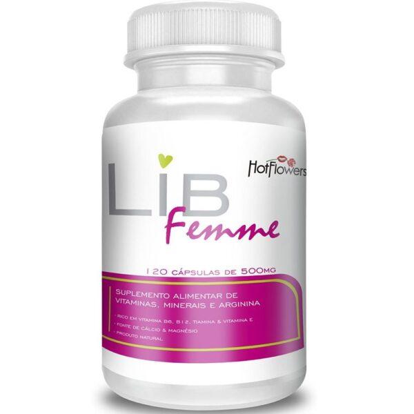 Suplemento Vitamínico LibFemme 120 Cápsulas Hot Flowers - Sexshop
