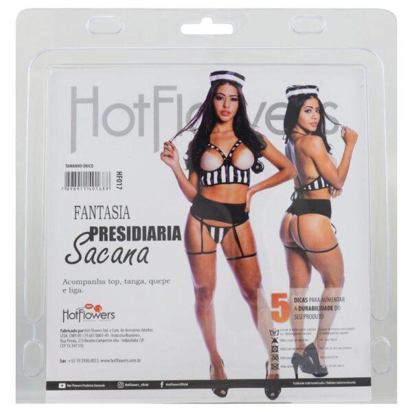 Fantasia Presidiária Sacana Hot Flowers - Sex shop