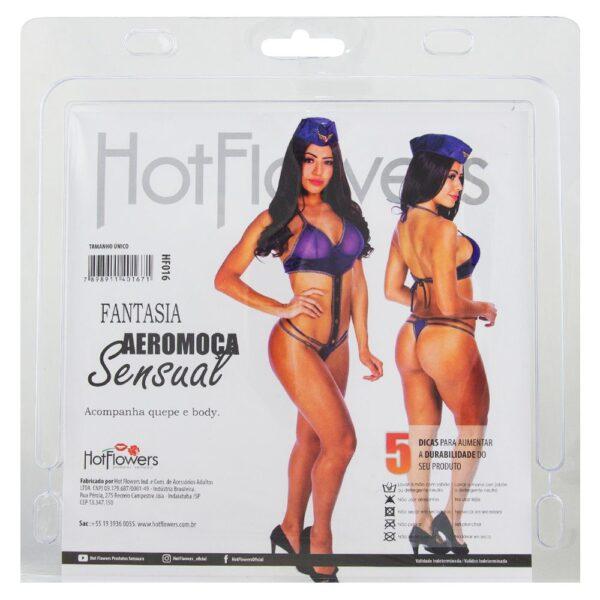 Fantasia Aeromoça Sensual Hot Flowers - Sex shop