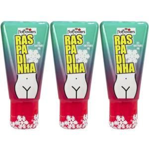 Kit 03 Raspadinha Excitante Feminino 15g Linha Brasileirinhos Hot Flowers - Sex shop