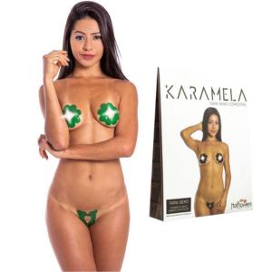 Tapa Sexo Flor Menta Karamela Comestível Hot Flowers - Sex shop