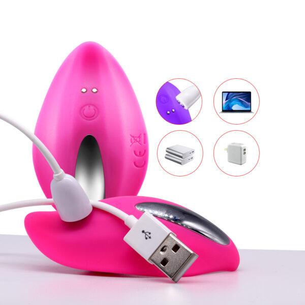 Vibrador Recarregável para Uso com Lingerie e Controle Wireless - PANAME - Sexshop