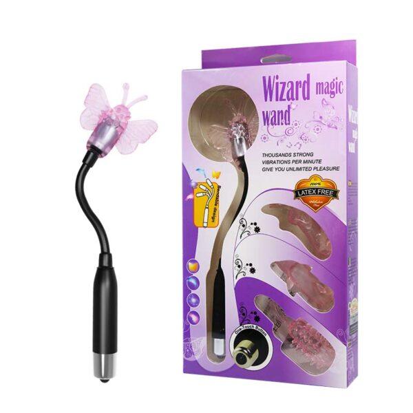 Vibrador Flexível com 4 Capas com Diferentes Texturas - WIZARD MAGIC WAND - Sexshop